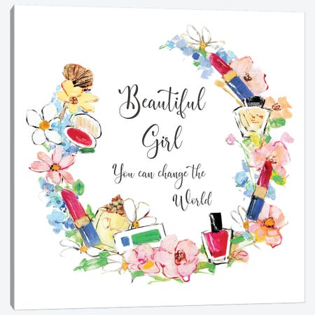 Beautiful Girl Canvas Print #SWA206} by Sally Swatland Canvas Artwork