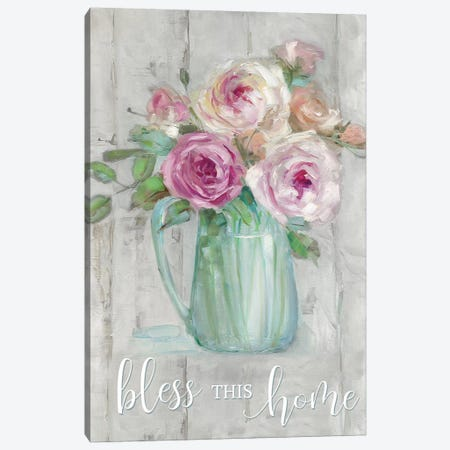 Bless This Home Canvas Print #SWA207} by Sally Swatland Canvas Artwork