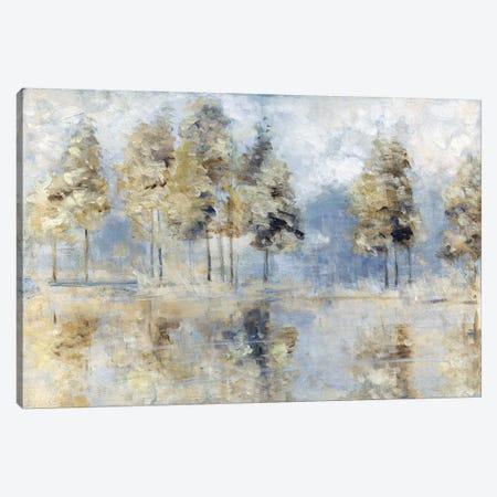 Blue Golden Forest Canvas Print #SWA209} by Sally Swatland Canvas Art Print