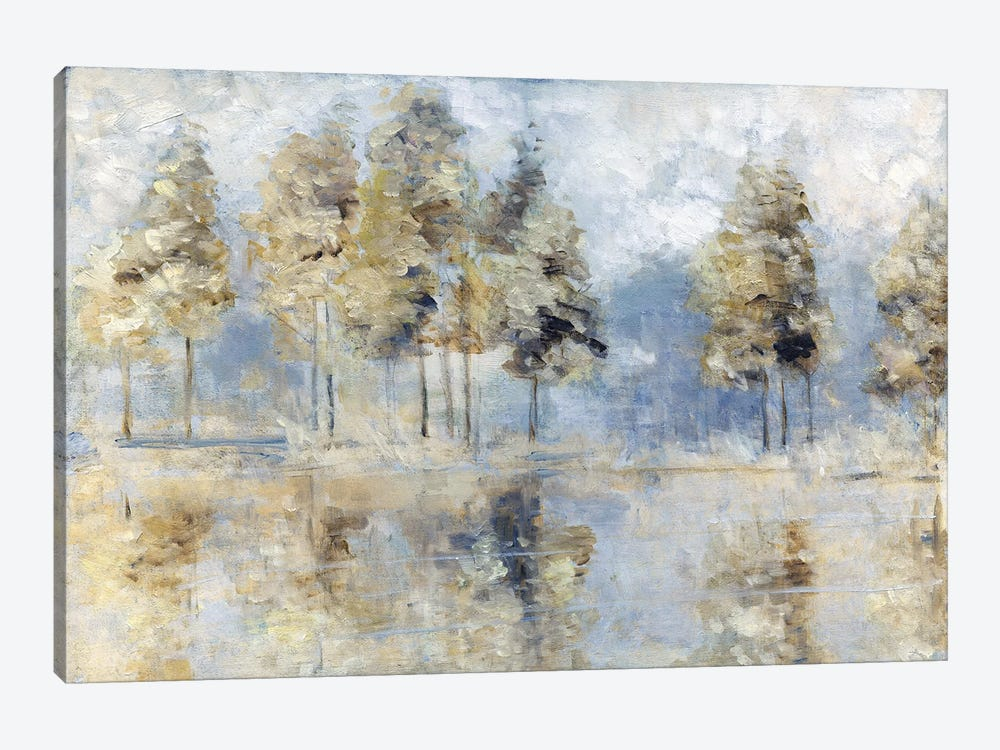 Blue Golden Forest by Sally Swatland 1-piece Canvas Print