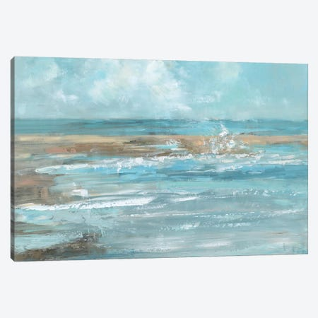 Breaking Waves Canvas Print #SWA21} by Sally Swatland Canvas Wall Art