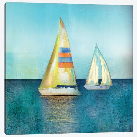 Marina Del Sol Canvas Print #SWA221} by Sally Swatland Art Print