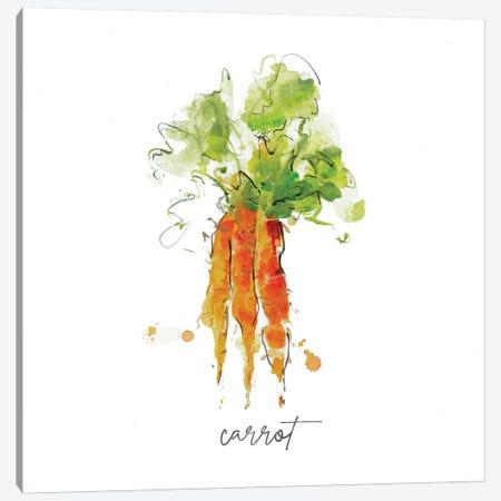 Sketch Kitchen Carrot Canvas Print #SWA229} by Sally Swatland Canvas Print