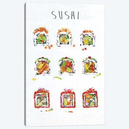 Sushi Canvas Print #SWA232} by Sally Swatland Canvas Wall Art