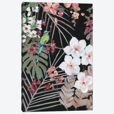Tropical Midnight I Canvas Print #SWA235} by Sally Swatland Canvas Print