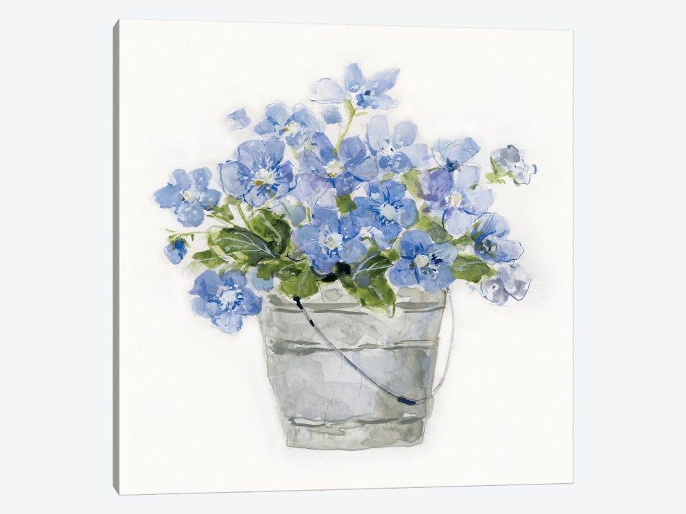 Blue Belles I by Sally Swatland 1-piece Canvas Print