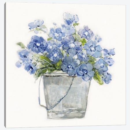 Blue Belles II Canvas Print #SWA239} by Sally Swatland Canvas Art