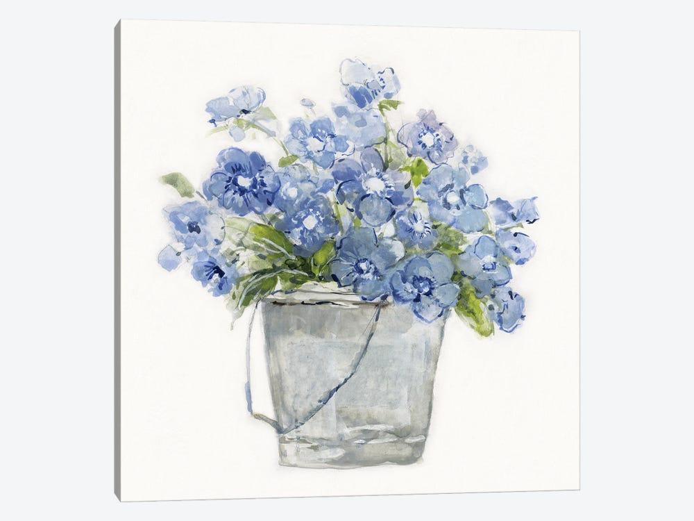 Blue Belles II by Sally Swatland 1-piece Canvas Wall Art