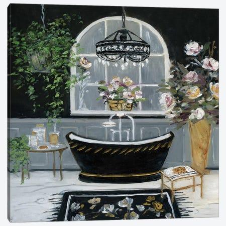 Femme Noir Bath II Canvas Print #SWA24} by Sally Swatland Canvas Print