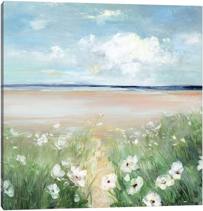 Ocean Wildflowers Canvas Art Print