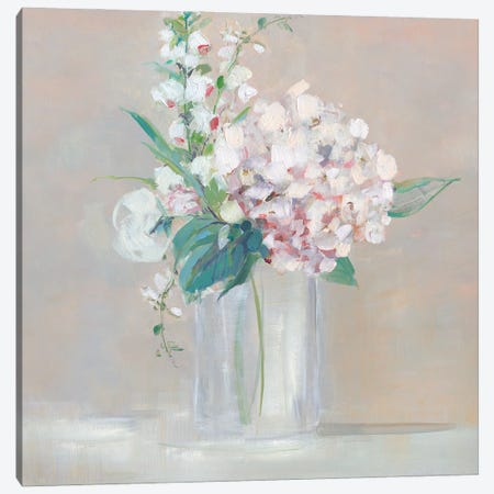 Simply Elegant Coral Berry I Canvas Print #SWA252} by Sally Swatland Canvas Artwork