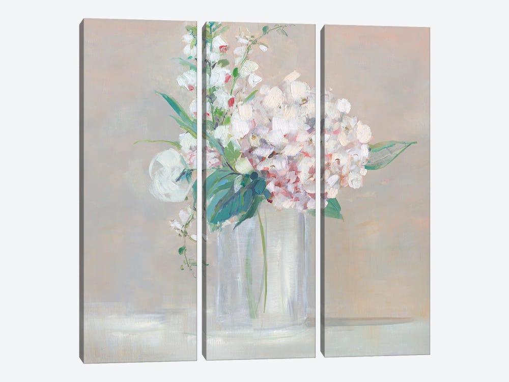 Simply Elegant Coral Berry I by Sally Swatland 3-piece Canvas Art Print