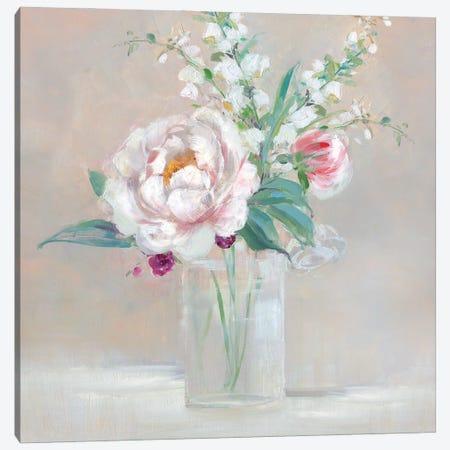 Simply Elegant Coral Berry II Canvas Print #SWA253} by Sally Swatland Canvas Artwork