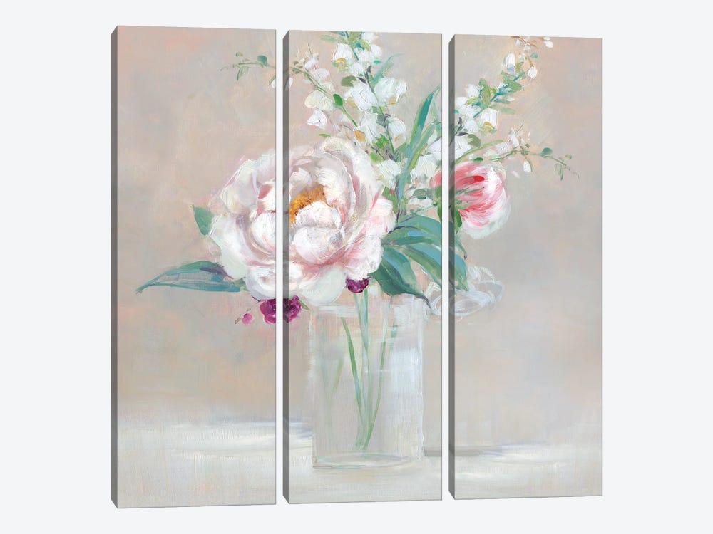 Simply Elegant Coral Berry II by Sally Swatland 3-piece Canvas Wall Art
