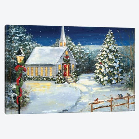 Holy Night Canvas Print #SWA260} by Sally Swatland Art Print