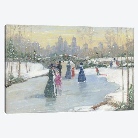 Skating at Dusk} by Sally Swatland Canvas Art Print