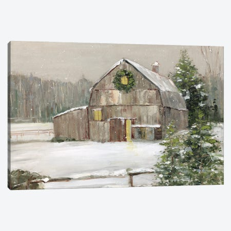 Winter Barn} by Sally Swatland Canvas Art Print
