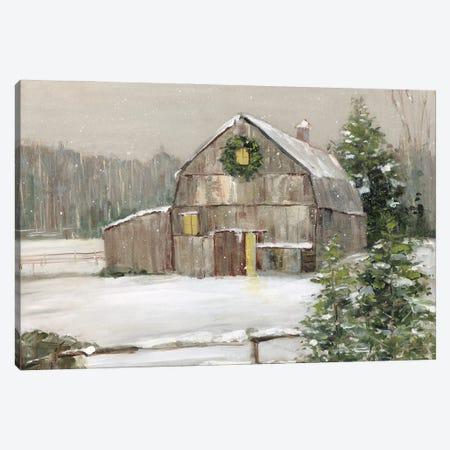 Winter Barn Canvas Print #SWA262} by Sally Swatland Canvas Art Print