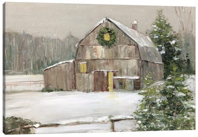 Winter Barn Canvas Art Print