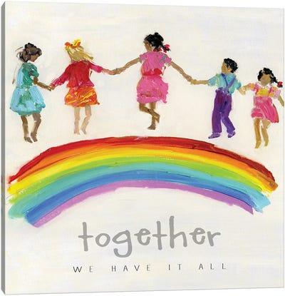Rainbow Kids Together Canvas Art Print