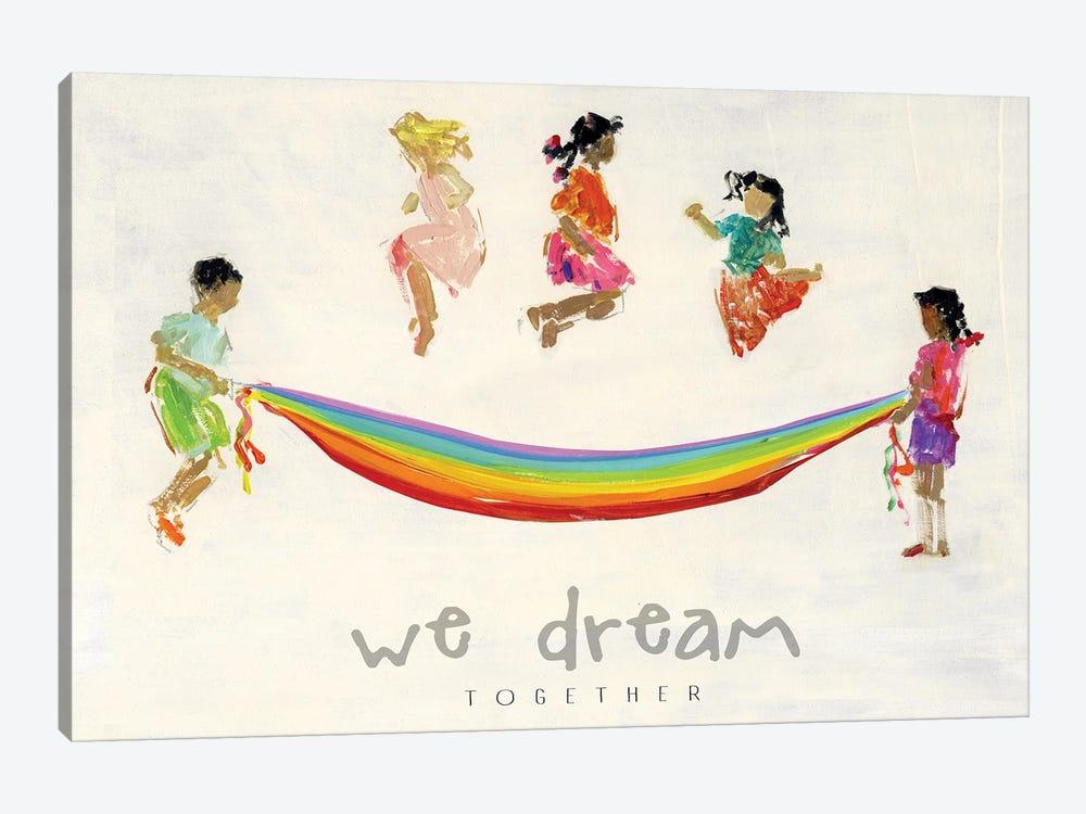 Rainbow Kids We Dream by Sally Swatland 1-piece Canvas Wall Art