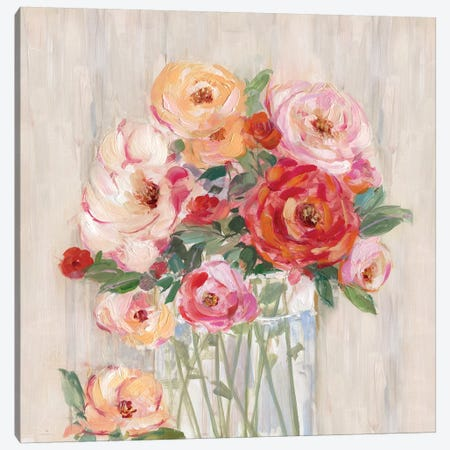 Just Peachy I Canvas Print #SWA26} by Sally Swatland Art Print
