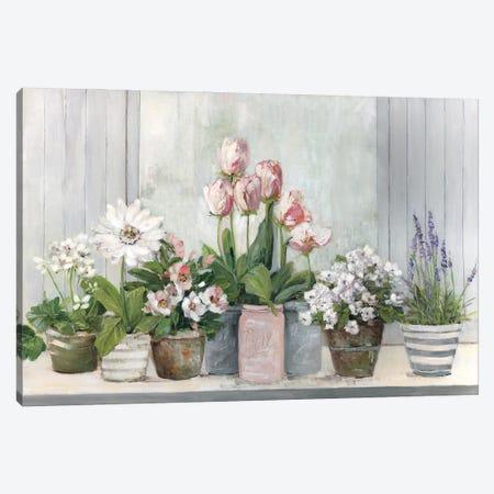 Cottage Grown Canvas Print #SWA274} by Sally Swatland Art Print