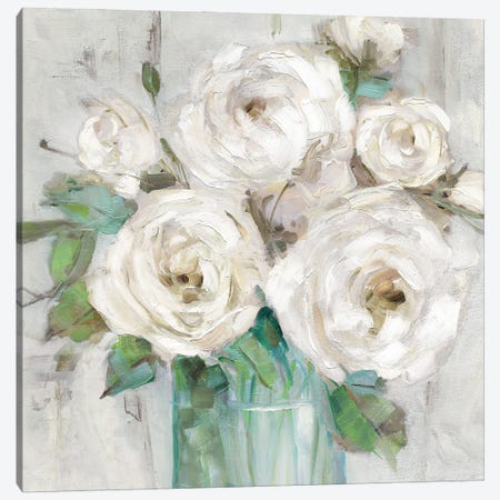 Cottage Whites Canvas Print #SWA275} by Sally Swatland Art Print