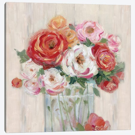 Just Peachy II 3-Piece Canvas #SWA27} by Sally Swatland Canvas Print
