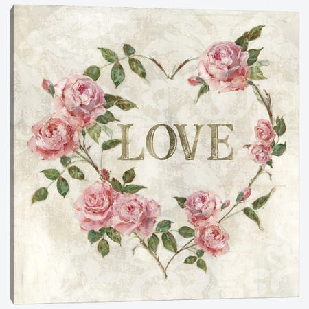 Love Heart Canvas Print #SWA280} by Sally Swatland Canvas Print