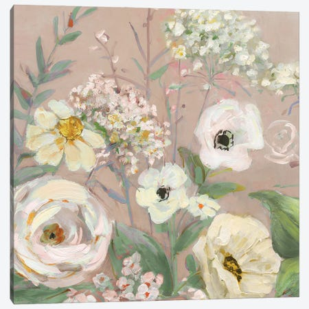 Naïve Garden I Canvas Print #SWA285} by Sally Swatland Canvas Wall Art