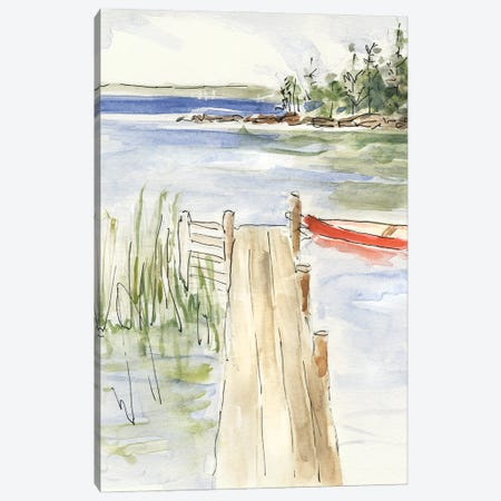 Sketchy Pier Canvas Print #SWA290} by Sally Swatland Canvas Wall Art