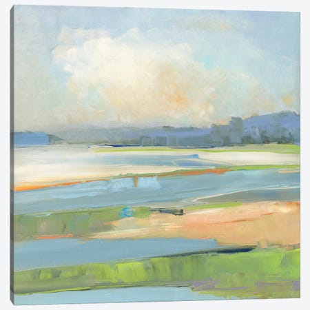Pastel Coast Canvas Print #SWA299} by Sally Swatland Canvas Art