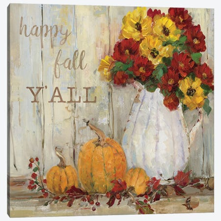 Pumpkin Patch II Canvas Print #SWA31} by Sally Swatland Canvas Print