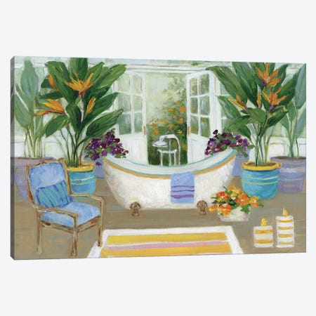 Tropical Island Spa I Canvas Print #SWA37} by Sally Swatland Canvas Wall Art