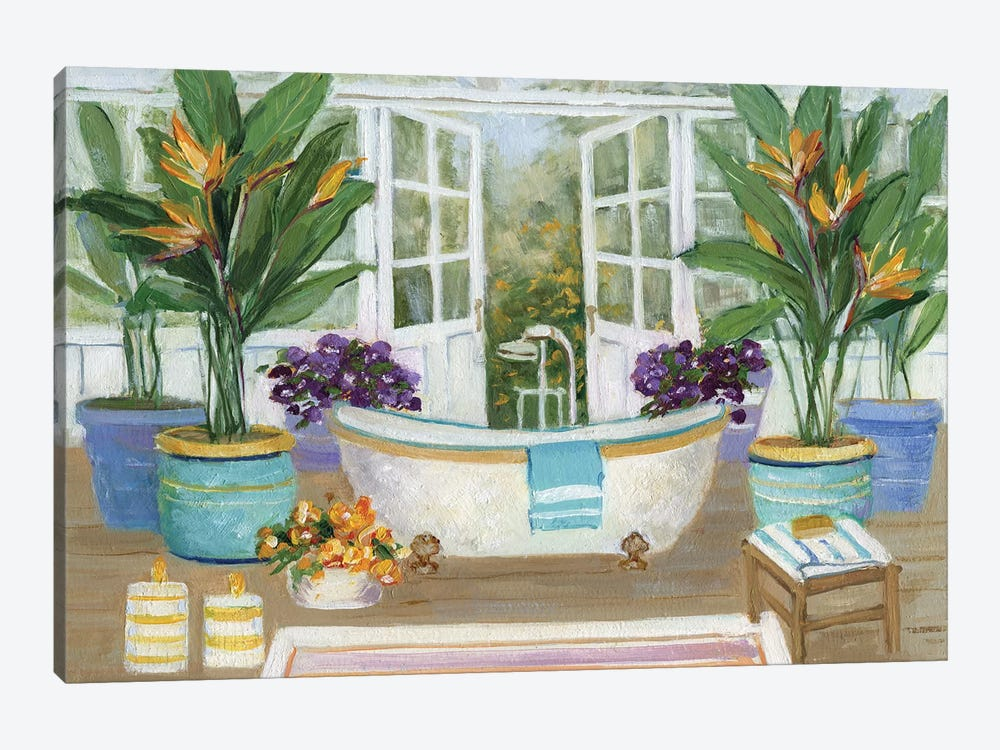 Tropical Island Spa II by Sally Swatland 1-piece Canvas Artwork