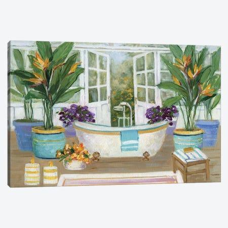 Tropical Island Spa II Canvas Print #SWA38} by Sally Swatland Canvas Art Print