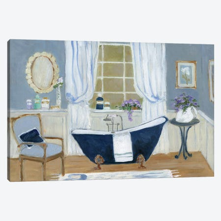 Violet Spa I Canvas Print #SWA39} by Sally Swatland Canvas Art Print
