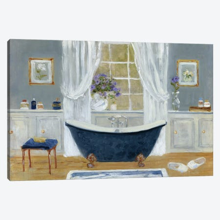 Violet Spa II Canvas Print #SWA40} by Sally Swatland Canvas Art