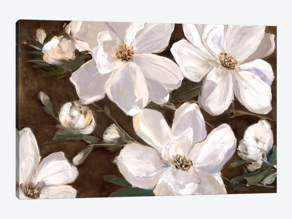 White Chocolate Blooms II by Sally Swatland 1-piece Canvas Artwork