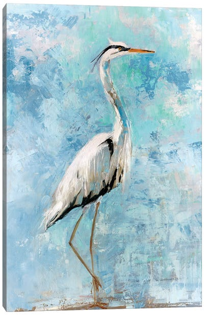 Hazy Morning Heron I Canvas Art Print