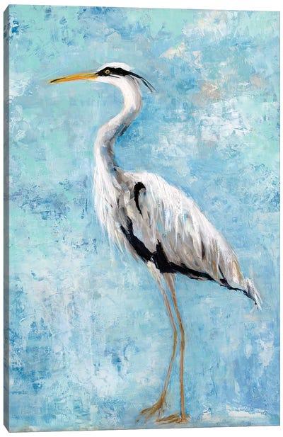 Hazy Morning Heron II Canvas Art Print