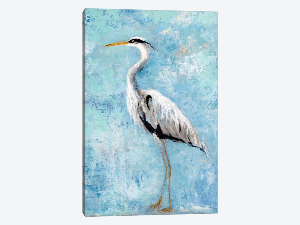 Hazy Morning Heron II by Sally Swatland 1-piece Canvas Artwork