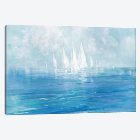 Set Sail Canvas Print #SWA55} by Sally Swatland Canvas Artwork