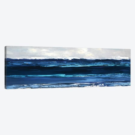 Summer Surf Canvas Print #SWA57} by Sally Swatland Canvas Artwork