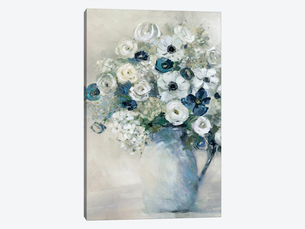 Anemone And Blue by Sally Swatland 1-piece Art Print