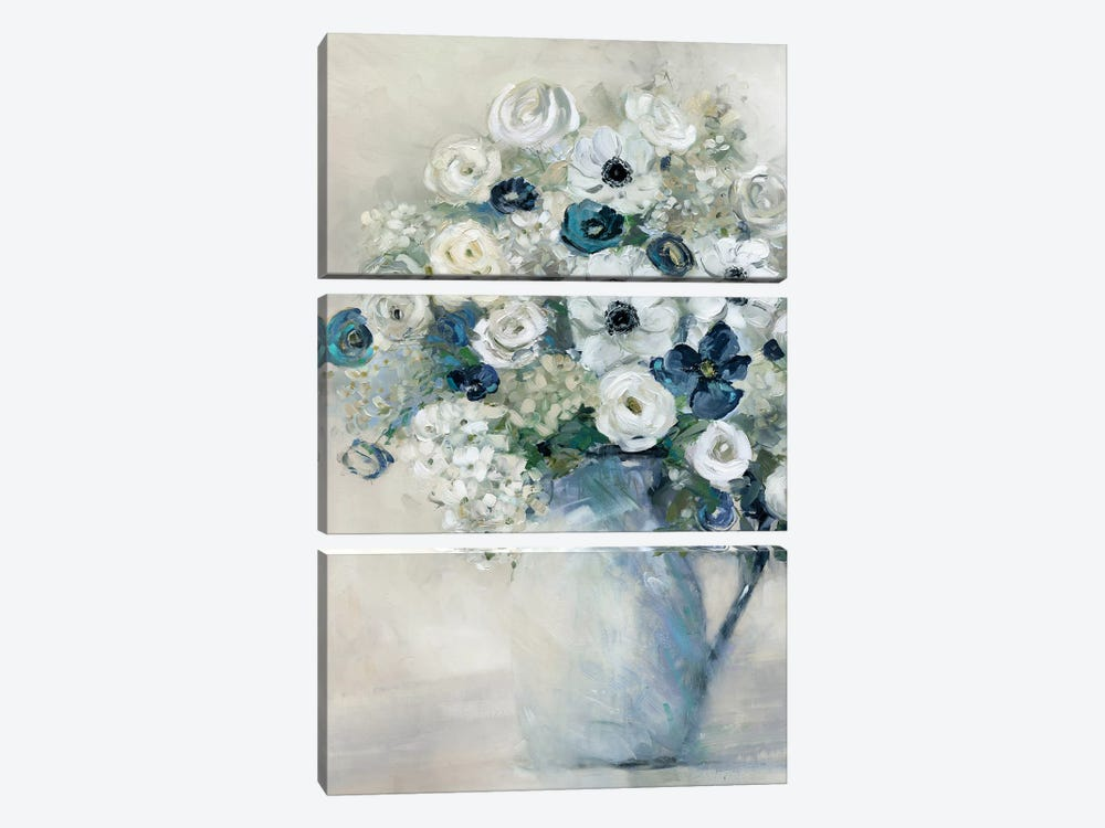 Anemone And Blue by Sally Swatland 3-piece Art Print
