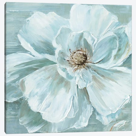 Blue Becomin' Beauty I Canvas Print #SWA61} by Sally Swatland Canvas Wall Art