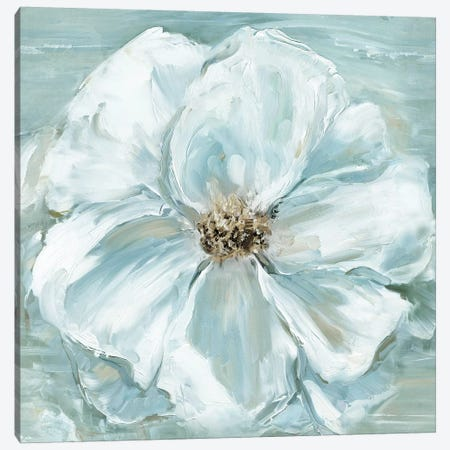 Blue Becomin' Beauty II Canvas Print #SWA62} by Sally Swatland Canvas Wall Art