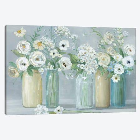 Blooming Meadow Beauties Canvas Print #SWA67} by Sally Swatland Canvas Print